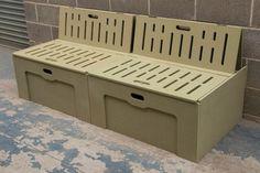 Bench Seat Campervan Bed in moisture resistant MDF Camper Beds, Diy Camper, Camper Van, Self Build Campervan, Campervan Bed, Campervan Interior, Bed Bench, Bench Seat, Sofa Bed