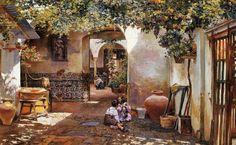 Resultado de imagen de pintura costumbrista andaluza