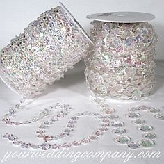 Acrylic Beaded Chains - Decorate your wedding or prom with pretty strands of iridescent, acrylic crystal. Drape these garlands with tulle fabric or use in or around centerpieces - wedding supplies - event decorations   http://www.yourweddingcompany.com