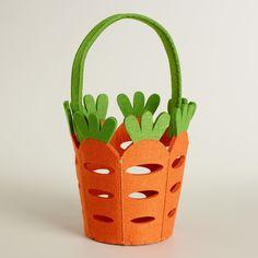 Carrot Felt Easter Basket | World Market