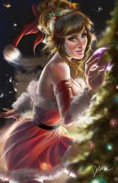 Christmas Pinup by CrisDelaraArt on DeviantArt