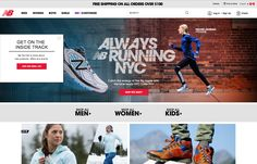 New Balance invites customers to sign up for their newsletter with an animated popup that smoothly glides up and down the left side of the page.