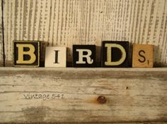 Vintage Game Letters BIRDS by vintage541 on Etsy, $6.50
