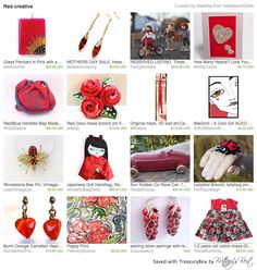 Our Red/Blue Handled Bag in this beautiful treasury by Natasha <3 Thank you so much!!! https://www.etsy.com/treasury/NDc4MjIwOTh8MjcyNzQyODQzMA/red-creative