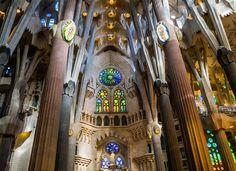Sagrada Familia #inside #Barcellona #viaggi #journey / seguici su www.cocoontravel.uk