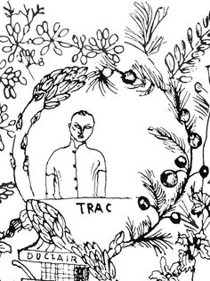 Trac (endpaper detail). The Alice B. Toklas Cook Book, illustrations by Francis Rose (New York: Harper & Row, [1954] 1984).