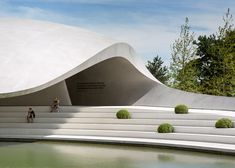 the Porsche Pavilion by HENN at the Autostadt theme park in Germany