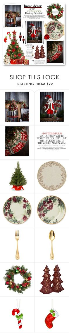 """""""Deck the Halls for Your Holiday Party"""" by jelenalazarevicpo ❤ liked on Polyvore featuring interior, interiors, interior design, home, home decor, interior decorating, MacKenzie-Childs, Kate Spade, National Tree Company and Kim Seybert"""
