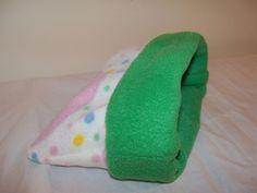 "Nursery XL Fleece Guinea Pig Pouch Bag Cozy Bed Snuggle Ferret Sleep 11""x11'' #Homemade"