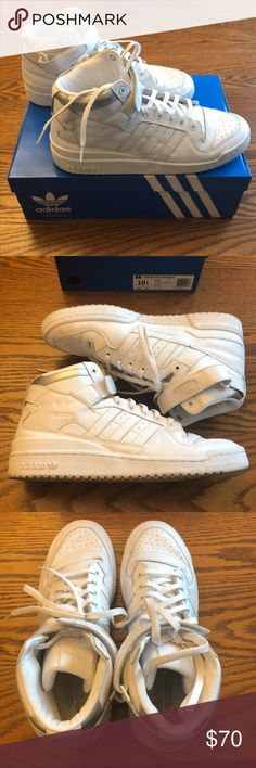 brand new 164e7 b07e2 Adidas forum mid refined Only worn 2 times, these Adidas forum high tops  are as close to new as you can get. They come in the original box adidas  Shoes ...