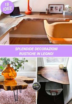 Decorazioni in legno rustico! Ecco 18 idee bellissime per ispirarvi... Decorazioni in legno rustico. Se vi piace il legno, e maggiormente il suo effetto rustico, vi innamorerete di queste splendide decorazioni! Date un'occhiata a queste 18 magnifiche...