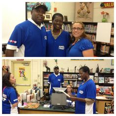 Boris Menier's Twitter Photo Mission statement for partnership w/ Bunche Park Elementary complete! Mike Hill w/ Dr. Iron  Mrs. Aponte -Miami Dade County Public Schools