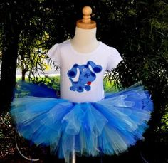 @Britny McKenzie - I see a blue tutu in your future! Hehe! Girls Birthday Blues Clues Tutu Set