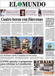 Los Titulares y Portadas de Noticias Destacadas Españolas del 7 de Julio de 2013 del Diario El Mundo ¿Que le parecio esta Portada de este Diario Español?