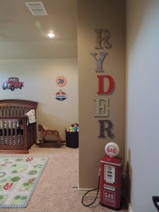 retro car themed nursery if we have a baby Ryder Liam Car Themed Nursery, Boy Nursery Cars, Car Themed Rooms, Boy Nursery Themes, Baby Boy Rooms, Bedroom Themes, Baby Boy Nurseries, Nursery Room, Baby Room