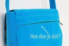 kreeg ik de vraag hoe je een verzonken rits in een tas stikt en ik kan eigenlijk alleen maar zeggen dat het niet zo moeilijk is.