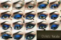 Belly dance eyes.  Peacock blue.