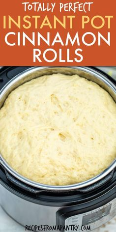This Instant Pot Cinnamon Rolls recipe is SO quick and easy to make. It only takes 30 mins to proof the dough in the Instant Pot. Making these delectable cinnamon rolls in the Instant Pot is perfect f Best Instant Pot Recipe, Instant Recipes, Instant Pot Dinner Recipes, Instant Pot Pressure Cooker, Pressure Cooker Recipes, Pressure Cooking, Electric Pressure Cooker, Easy Appetizer Recipes, Dessert Recipes