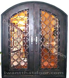 Majestic Glass and Iron Door