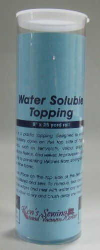Embroidery Stabilizer Water Soluble Topping 8 inch by 25 yards wtih free Tube - http://www.sewingmachinereveiws.com/embroidery-stabilizer-water-soluble-topping-8-inch-by-25-yards-wtih-free-tube/