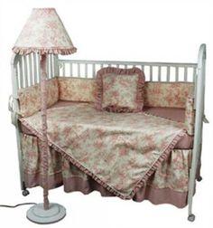 Hoohobbers 4 Piece Crib Bedding Set - Etoile Pink - http://www.247babygifts.net/hoohobbers-4-piece-crib-bedding-set-etoile-pink/