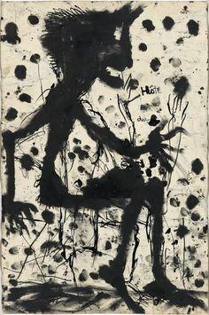 """Louis Soutter """"Hôte (Sitzender Teufel)"""" (1937-1942)"""