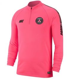 8715562cd58 Nike Paris Saint-Germain FC 2018 19 Dri-FIT Squad Drill Long Sleeve Top
