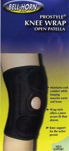 Bell-Horn ProStyle Knee Wrap Open Patella in Black