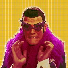 Robbie Rotten, looking as glam as ever.