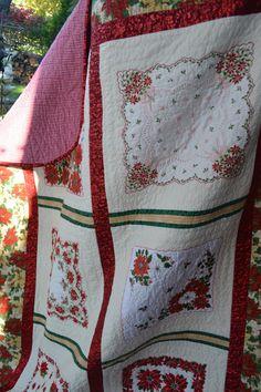 ON SALE Handkerchief Quilt Vintage от TrueloveQuiltsForYou