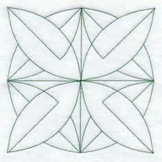 Bay Leaf Quilting Square (Double Run) design (B2785) from www.Emblibrary.com