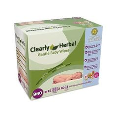 New Clearly Herbal Wipes 960 Wipes Healthier and Safer Alternative Free Shipping