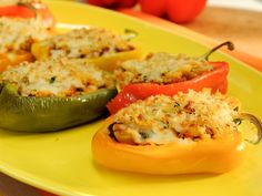 Picadillo Stuffed Peppers recipe from Marcela Valladolid via Food Network The Kitchen Mexican Food Recipes, Beef Recipes, Dinner Recipes, Cooking Recipes, Healthy Recipes, Recipies, Beef Meals, Hamburger Recipes, Delicious Recipes