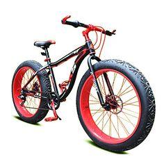 "7 Speeds 26"" Snow Bicycle Fat Bike 4cm Width Tire NDS™ Mountain Terrain…"