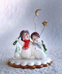 snow people by Neli Josefsen (Nelka), via Flickr