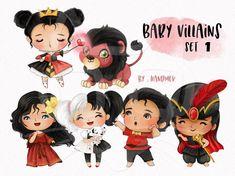 Disney Princess Set, Disney Princess Pictures, Baby Draw, Bujo Doodles, Cute Disney Drawings, Baby Clip Art, Disney Villains, Princesas Disney, Disney Wallpaper
