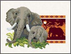 GRAFICOS FREE CROSS STITCH: ELEPHANTS
