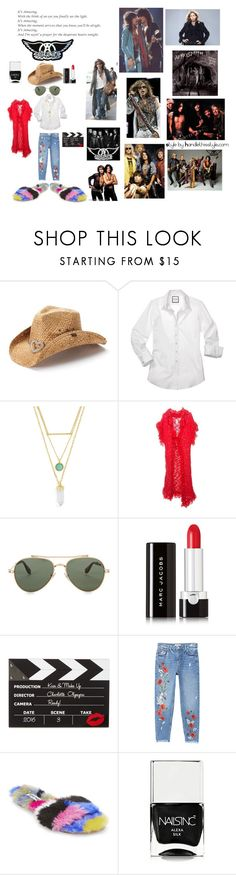 """Aerosmith 🙌💙"" by handlethisstyle ❤ liked on Polyvore featuring Peter Grimm, BaubleBar, John Galliano, Givenchy, Marc Jacobs, Charlotte Olympia, MANGO, Steve Madden and Nails Inc."