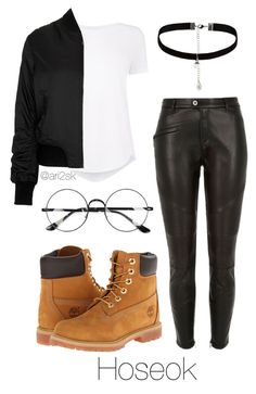 """""""In the city - Hoseok """" by ari2sk ❤ liked on Polyvore featuring Topshop, River Island, Timberland, Accessorize and Chicnova Fashion"""