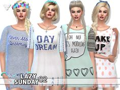 Fancy and chic sleepwear set for your female sims,with a romantic touch^^ Found in TSR Category 'Sims 4 Female Sleepwear'
