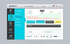 Dashboard UI Elements PSD Freebie - icons, buttons, graphs, etc.