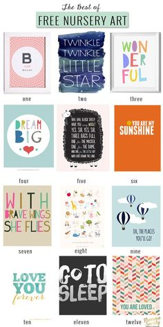 Free Nursery Art Printables | Momma Society-The Community of Modern Moms | www.mommasociety.com