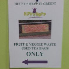 #hippohopp #goinggreen #compostingbin #HippoCafe