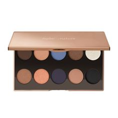 Buy Nude By Nature - Natural Wonders Eye Palette online and save! Inspired by Australia's extraordinary colour palette, from changing skies to shimmering sands with a pop of lagoon blue, the 10 richly pigmented lumi. Body Makeup, Skin Makeup, Eyeshadow Makeup, Makeup Cosmetics, Eye Palette, Makeup Palette, Eyeshadow Palette, Mineral Makeup Brands, Le Contouring