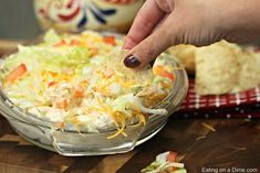 This is the best taco dip recipe. With a few ingredients you can throw together this easy taco dip recipe in minutes. Try this simple taco dip recipe today! Best Taco Dip Recipe, Dip Recipes, Mexican Food Recipes, Snack Recipes, Cooking Recipes, Snacks, Recipies, Chickpea Recipes Easy, Buffalo Chicken Dip Recipe