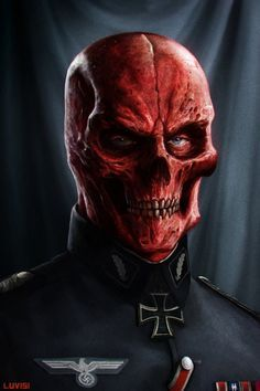 RED SKULL - Must-See Concept Art by Dan LuVisi. Freaking love it!! The Red Skull is one of my all time favorite comic book characters!