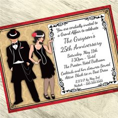 Roaring Twenties Party Supplies at Birthday Direct Roaring Twenties Party, Roaring 20s Wedding, The Twenties, 1920s Wedding, Party Wedding, Wedding Reception, Wedding Stuff, Wedding Ideas, Personalized Invitations