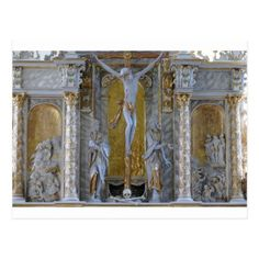 Cross Jesus in the Church Postcard - postcard post card postcards unique diy cyo customize personalize