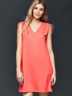 Sleeveless V-neck swing dress Product Image