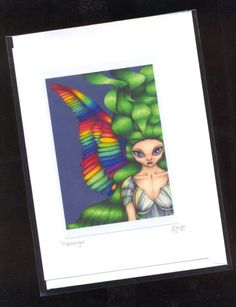 Items similar to Rainbow Messenger Angel Card - blank card, for birthday or any occasion on Etsy Angel Cards, Blank Cards, Big Eyes, Original Image, Are You The One, Fantasy Art, Greeting Cards, Art Birthday, Rainbow